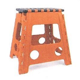 Amazon Com Kikkerland Ez Fold Tall Step Stool Orange