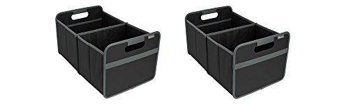 meori Classic Collection Large Foldable Storage Box, 30 Liter / 8 Gallon, in Lava Black To Organize and Carry Up To 65lbs - Pack of (Large Foldable Box)