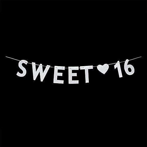 Silver Sweet 16 Birthday Banner – 16th Wedding Anniversary