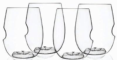Govino Dishwasher Safe Flexible Shatterproof Recyclable Wine Glasses, 16-ounce