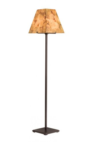 Kalco 948BZ Floor Lamps with Penshell Glass Shades, 58.5