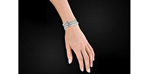 Metal Pointu's Bracelet manchette Cobra plaqué argent