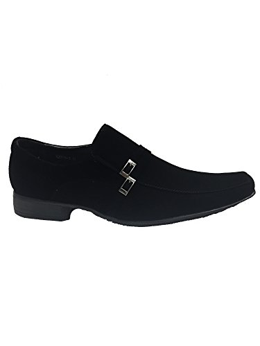 New BLACK FAUX SUEDE Men Slip On Synthetic Comfortable Loafer Shoes UK Sizes 6 7 8 9 10 11 gw8cf0I