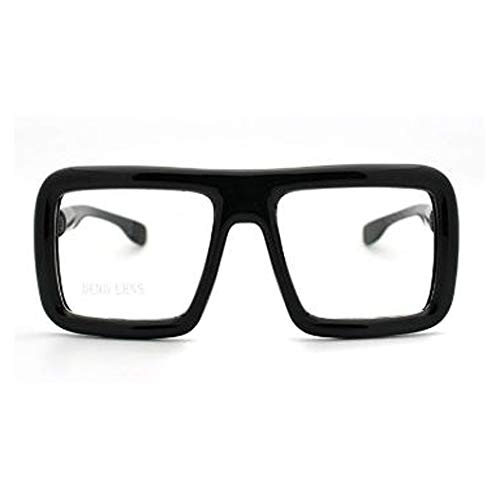 Thick Square Glasses Clear Lens Eyeglasses Frame Super Oversized Fashion -