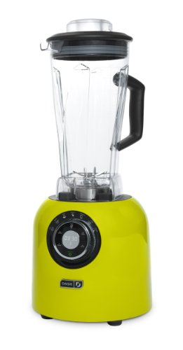 Dash Chef Series 64 oz Blender with Stainless Steel Blades + Digital Display for Coffee Drinks, Frozen Cocktails, Smoothies, Soup, Fondue & More - Green/Lime