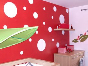 Polka Dots Wall Stickers Circle Vinyl Art Decal Choose Your