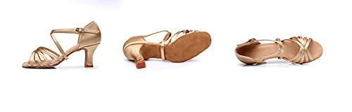 latines Soft 40 Light Adulte de brown 34 talons femmes fond WX latine danse à XW chaussures hauts Satin chaussures Lady Zw7xq5nTU