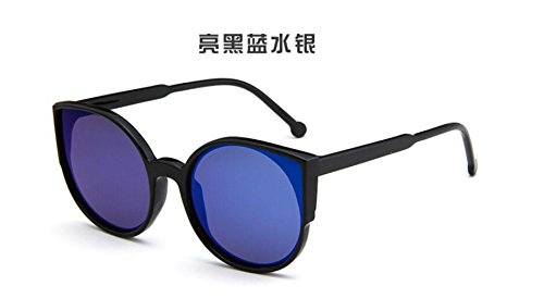 gafas and blue retro sol Ojos sol de Moda de de gafas sol Bright color de de ligero gafas black ultra gato GLSYJ brillante LSHGYJ PwvHgBq8g