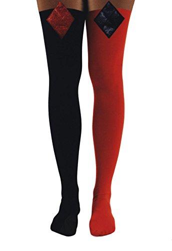 f41f66d118d DC Comics Harley Quinn Lurex 3D Diamond Over The Knee Socks - Buy ...