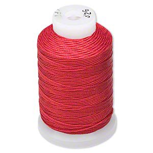 - Simply Silk Beading Thread Cord Size E Red 0.0128 Inch 0.325mm Spool 200 Yards for Stringing Weaving Knotting