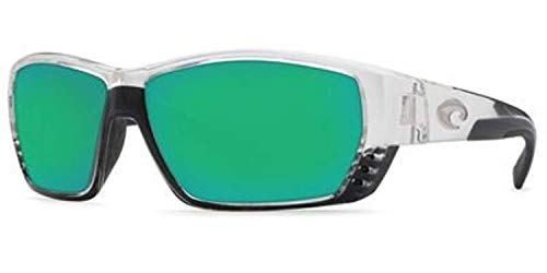 - Bundle: Costa Tuna Alley Sunglasses Crystal/Green Mirror Glass W580 & Earbuds