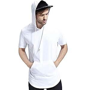 Amazon.com: Camisa de cuello redondo para hombre, casual ...