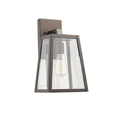 Chloe Lighting CH822034RB14-OD1 Transitional 1 Light Rubbed Bronze Outdoor Wall Sconce 14