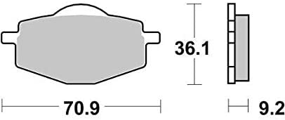 Yamaha DT 125 R DT125R 96 97 98 99 00 01 02 03 04 05 06 07 SBS Performance Rear Ceramic Brake Pads Set Genuine OE Quality 107HF