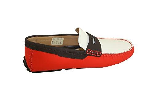 Zapatos De Conductor De Cuero Bally Para Hombre. Driad Rojo