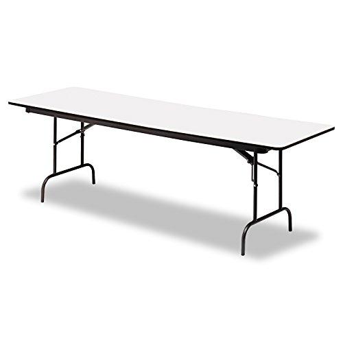 Iceberg ICE55237 Premium Wood Laminate Folding Table with Charcoal Steel Legs, 30