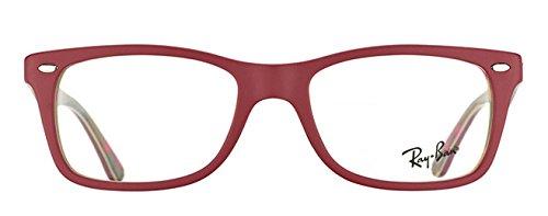 ray-ban - 5228 501450 (50 Mm) - Lunettes De Soleil Femme 5406: Matte Red / Text Camouflage
