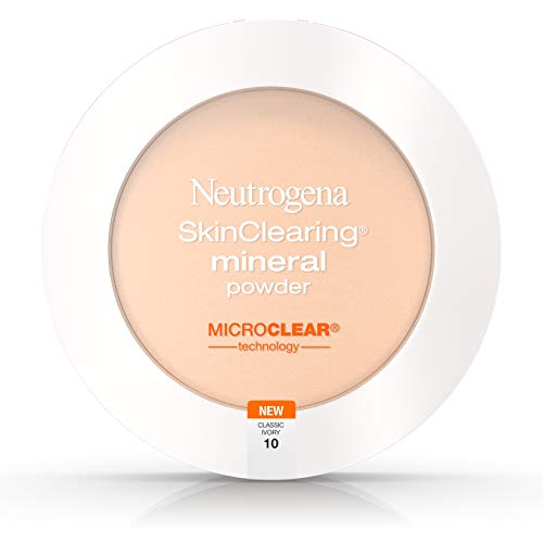 Neutrogena SkinClearing Mineral Powder, Classic Ivory 10, 0.38 Ounce (Pack of 2)