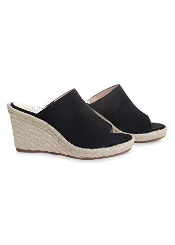 Stuart Weitzman Women's MARABELLA Sandal, Black Suede, 7 Medium US