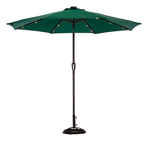 Solar Umbrella9'Hntr Grn by LIVING ACCENTS