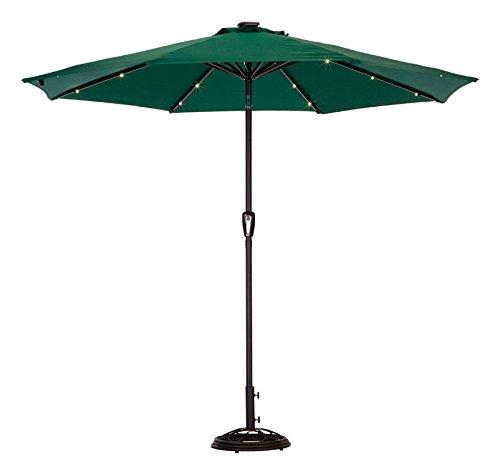 Solar Umbrella9'Hntr Grn