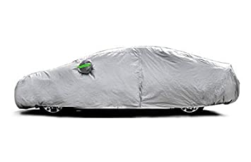 """Tecoom Waterproof UV-Proof Windproof Design Car Cover with Zipper Storage and Lock for All Weather Indoor Outdoor Fit Sedan 170/""""-190/"""" Length"""