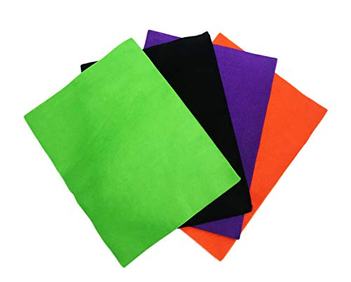 Maker's Halloween Assorted Multi Color 20 Piece Basic Felt Sheets 12
