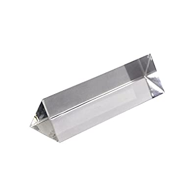 """3"""" verre prismatique de prisme triangulaire meilleur pour l'enseignement de physique de photographie CJ590"""
