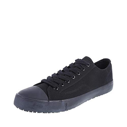 safeTstep Men's Black Canvas Slip Resistant Kick 9 Regular