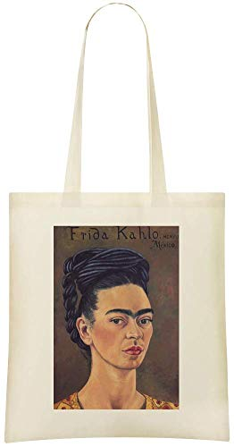 et Grocery Cotton Red or Frida Stylish Frida in Gold And Custom Painting Soft Tote Handbag Friendly robe Dress 100 Painting rouge en Kahlo Bag Self Kahlo amp; Printed For Autoportrait Eco Portrait 4nRZtt