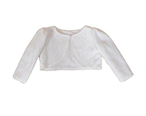 Cinda Baby Girls' Lace Long Sleeve Bolero Jacket 6 Months (Baby Bolero)