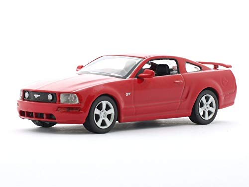 Ford Mustang GT 2005 Year Red American Muscle Car 1/43 Collectible Model Vehicle (Model Toy Cars 2005 Mustang)