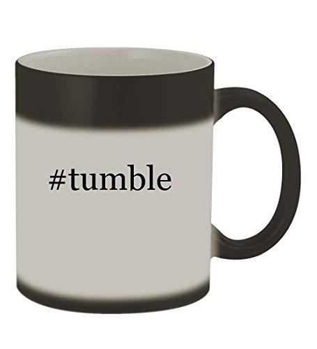 #tumble - 11oz Color Changing Hashtag Sturdy Ceramic Coffee Cup Mug, Matte Black ()