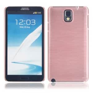 Plastic Hard Protective Case with Horizontal Wiredrawing Pattern for Samsung Note3 Dark Pink