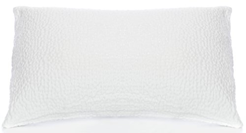 Puffy Cloud Texture Knit Queen Bed Pillow with Hypoallergeni
