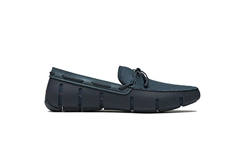 SWIMS Braided Lace Loafer DT In Navy/Storm, Size 11 by SWIMS
