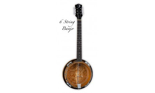 Luna Folk Series Celtic Six-String Banjo by Luna Guitar