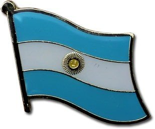 National Lapel Pin (Argentina Flag Lapel Pin with Gold Clasp / National Flag Travel Pins for backpacks, hats, ties, and lapels by Backwoods Barnaby (Argentinian broach, 0.75