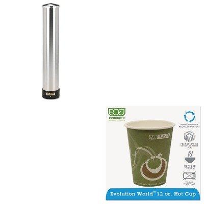 KITECOEPBRHC12EWSJMC3400P - Value Kit - ECO-PRODUCTS,INC. Evolution World 24% PCF Hot Drink Cups (ECOEPBRHC12EW) and San Jamar Large Water Cup Dispenser w/Removable Cap (SJMC3400P) by Eco-Products, Inc