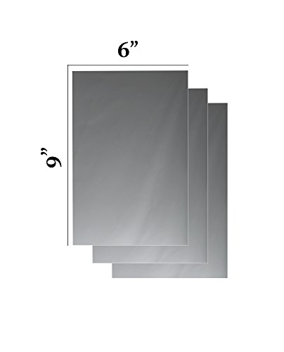 "Flexible Mirror Sheets 6"" X 9"" Soft Non Glass Cuttable Craft Plastic 3 sheets"