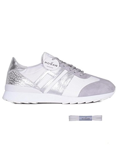 Les Femmes Hogan Hwx2610k960ir40bwi Chaussures De Sport En Cuir Blanc