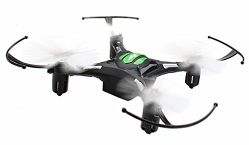 RC Mini Drone, JJRC 4 Channel 2.4GHz 6-Axis Gyro Aircraft with HD Camera LED Lights + Headless Mode 3D Roll Remote Control Quadcopter Toys For Adult Kids, by ECLEAR - Black (Dragonfly Remote Control Toy)