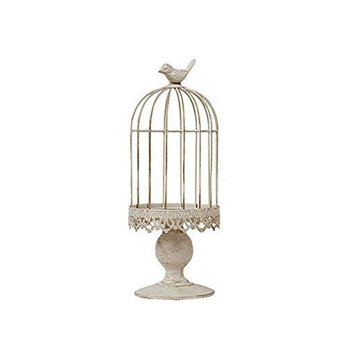 RuiXiang Open Birdcage Candle Holder,Vintage Candle Holder,Wrought Iron Decoration Birdcage Candle Holder,Wedding Romantic Birthday Supplies (Big) ()
