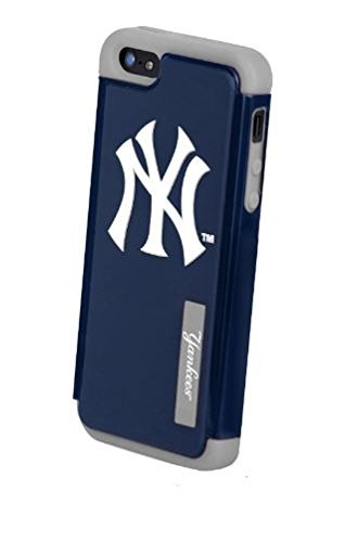 Forever Collectibles MLB Dual Hybrid TPU iPhone 5/5S Rugged Case – Retail Packaging – New York Yankees