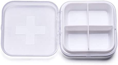 Pillole Contenitore Porta Pastiglie Pillole Organizzatore per Pillole Vitamine 1 BIGBOBA.Portapillole con 4 Griglie