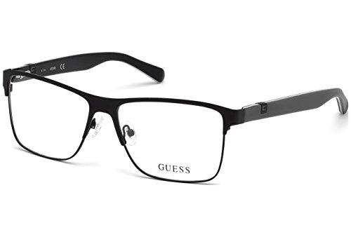 Guess GU1912 Eyeglass Frames - Matte Black Frame, 55 mm Lens Diameter GU191255002
