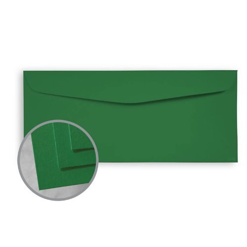 BriteHue Green Envelopes - No. 10 Commercial (4 1/8 x 9 1/2) 60 lb Text Semi-Vellum 30% Recycled 500 per Box (Vellum Recycled 30% Finish)