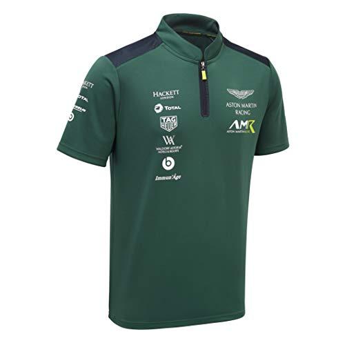 Aston Martin Racing Team Polo Shirt in Green (L) (Mens Racing Polo)