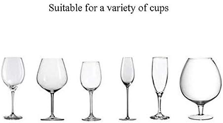 ゴブレットホルダー 内閣ステンレスハンガー収納棚ワイングラスホルダースタンドの下でワイングラスホルダー脚付きグラスラック ワインラック (Color : White, Size : 1 ROW)