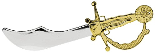 [Fun-Filled Costume Party Pirate Dagger, Gold/Silver, Plastic, 12